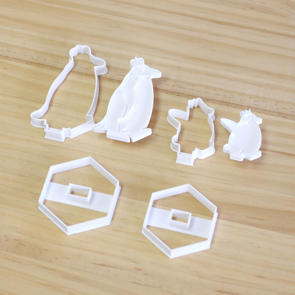 組み立てるクッキー型【皇帝ペンギンの親子セット】(3Dプリンター製です)